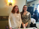 two student interns staffing table.