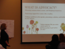 Helen presents on advocacy
