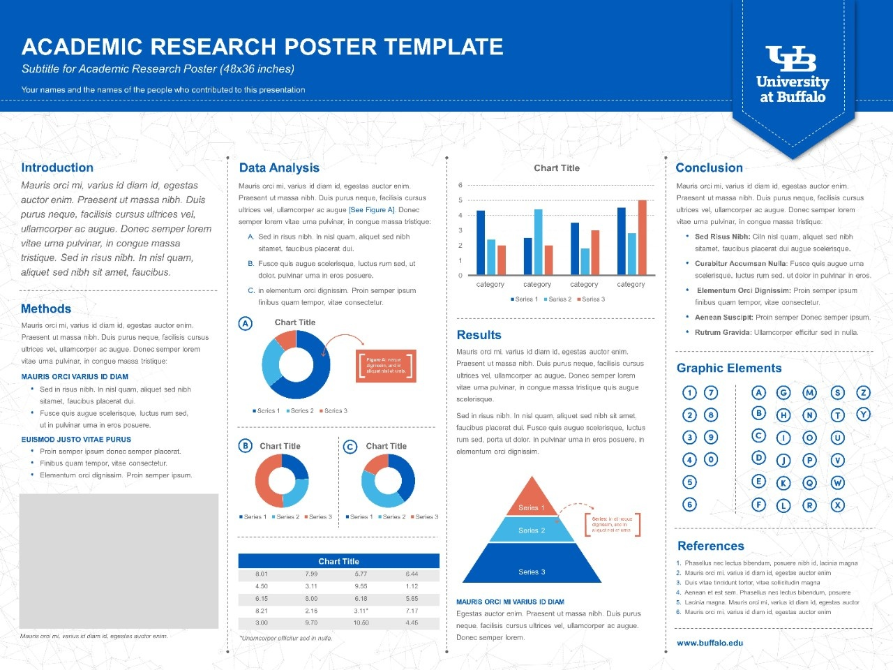 Presentation templates university at buffalo school of for Powerpoint poster template 90 x 120