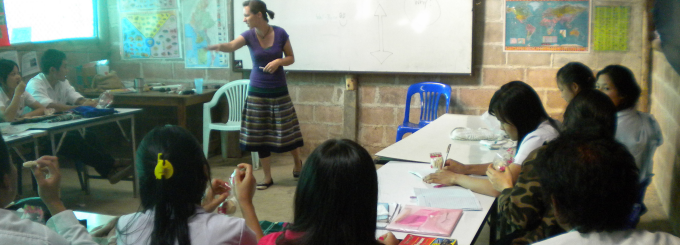 MSW student teaching overseas.